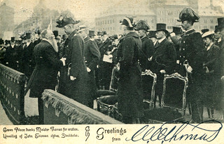 Stockholm - Crown Prince at John Ericsson Monument (Postcard)