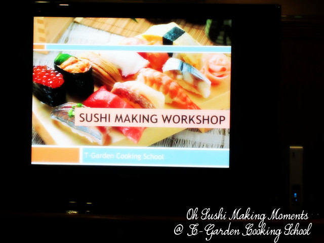 Oh Sushi Making Moments at T-garden cooking school with Midea Malaysia