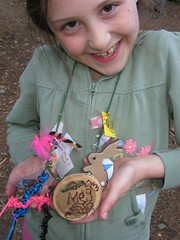 Meg at Girl Scout Camp