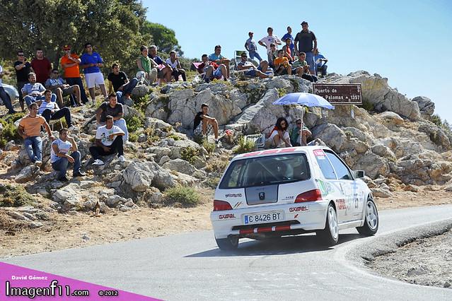"""Gabriel Sanjuan, peugeot 106, rallye sierra de cadiz 2012"""