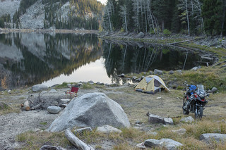 Lone tent along Louie Lake
