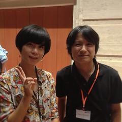 Perl界のstarman @miyagawaさんとも写真撮ってもらったよ! #yapcasia