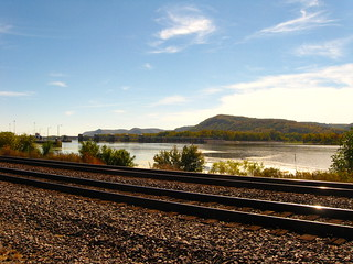 tracks along the Mississippi