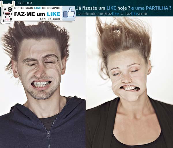 Fotos de retratos com jato de ar
