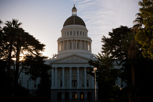 california ca morning america sunrise early state united capitol dome states