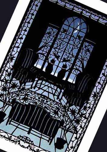 halloween, paper cutting, black cats