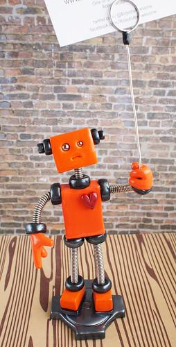 Oakley Orange - Robot Wire Photo Holder by HerArtSheLoves