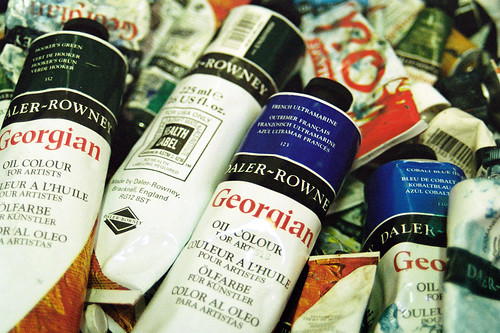 Tubes of oil paint by 35mm_photographs