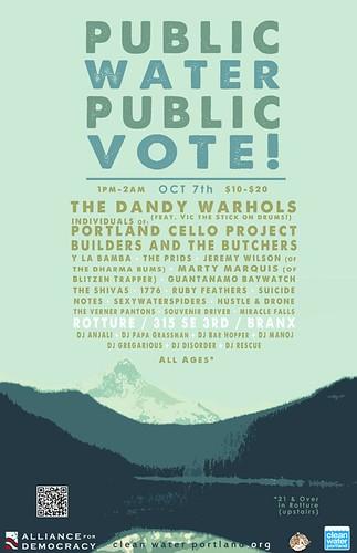 Public Water Public Vote Portland Concert