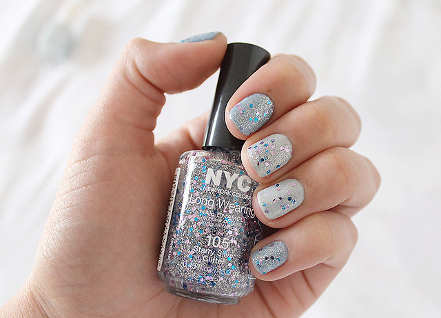NYC Starry Silver Glitter 1