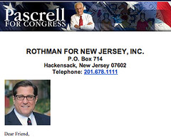 Pascrell fundraising letter by Rothman