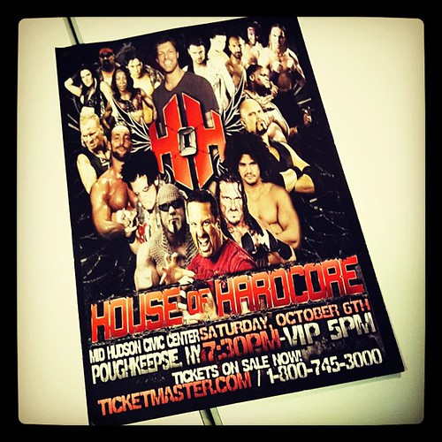 Found at Beacon Train Sta this AM - @HouseofHardcore #newyork #wrestling #ecw #wwe