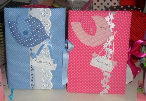 A caderno com passarinho by Coisando as Coisas by Clau