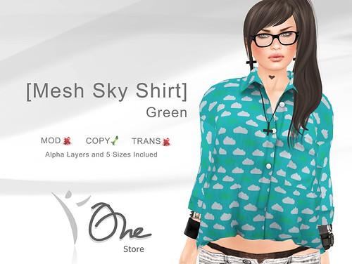 Mesh Sky Shirt Green