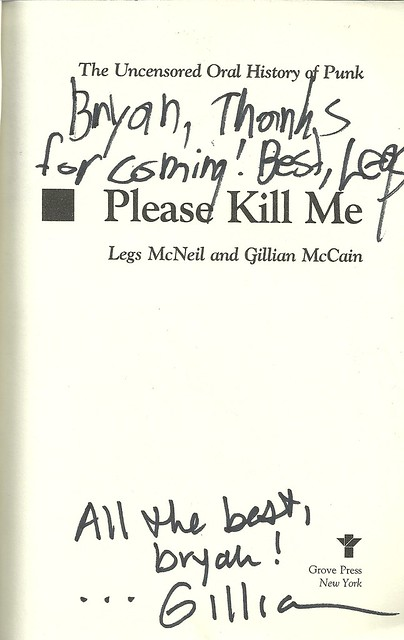 10-06-12 Legs McNeil-Gillian McCain (Autographed 'Please Kill Me')