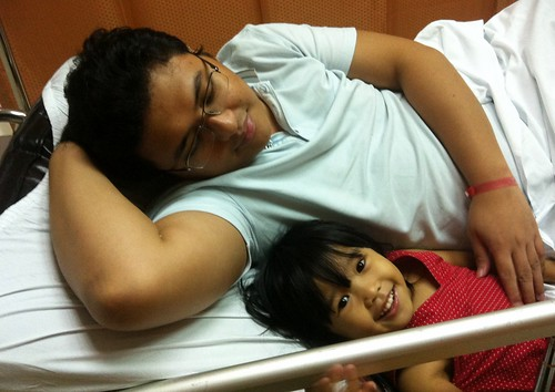 euna and papa at makati med ER