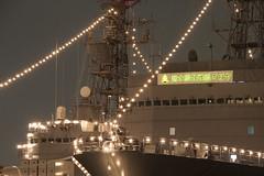 横浜大桟橋地区に護衛艦の電灯艦飾を見に行く