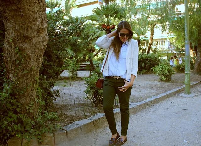 Look verde +  mocasines