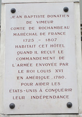 Photo of Jean-Baptiste Donatien de Vimeur white plaque