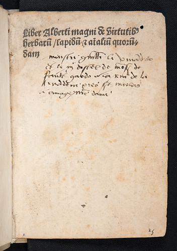 Ownership inscription in Albertus Magnus [pseudo-]: Liber aggregationis