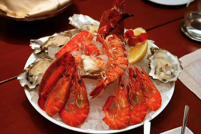 One-Ninety Seafood Platter - oysters, lobster, Alaskan king crab, tiger prawns