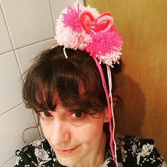 Made my own pom-pom fascinator at RA summer circus.