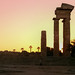 Sunset at the Acropolis, Rhodes by andbog