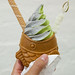 Straight Outta Japan - Matcha, black sesame swirl soft serve ice cream, tayaki filled with red bean, mochi and wafer cookie