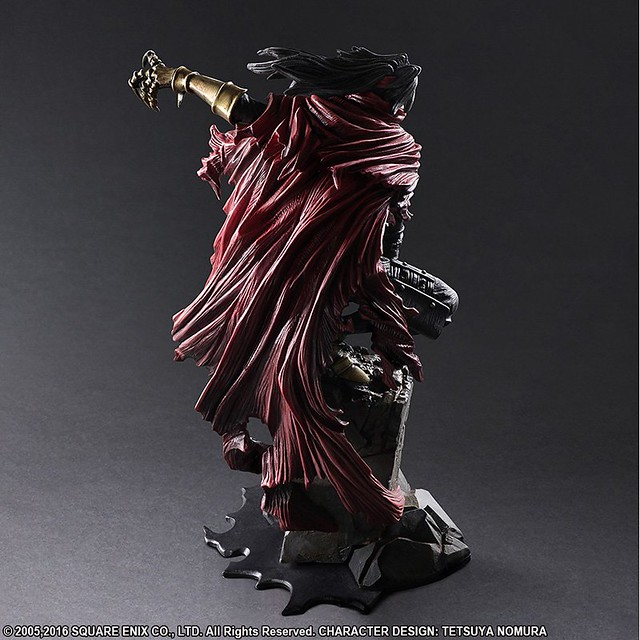 SQEX Static Art Gallery《FF7AC》文森特·瓦倫汀 ヴィンセント·ヴァレンタイン 雕像