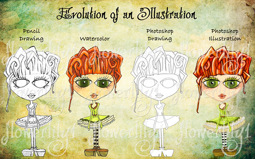 Evolution of an Illustration by flowerlily1