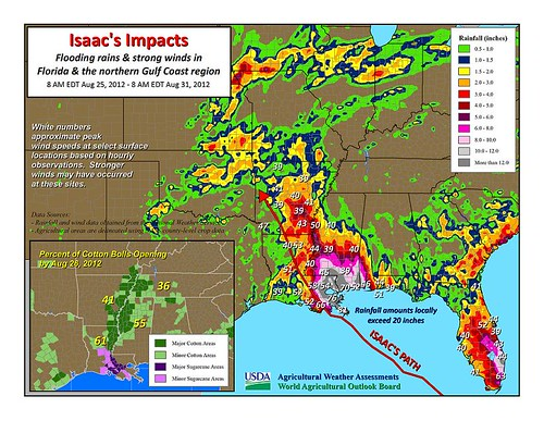 Isaac's Impacts: flooding rains and strong winds in Florida and the northern Gulf Coast region, August 31, 2012
