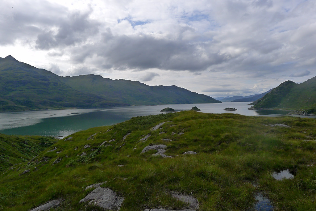 Loch Hourn from above Barrisdale Bay