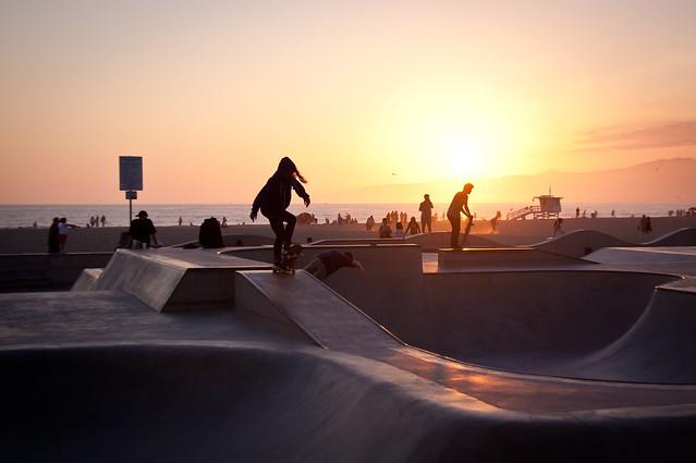 Skater Girl at Venice Beach Skate Park