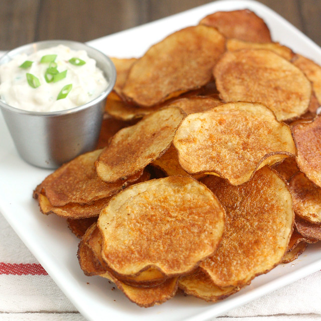 Homemade Baked Smoked Paprika Potato Chips with Triple ...