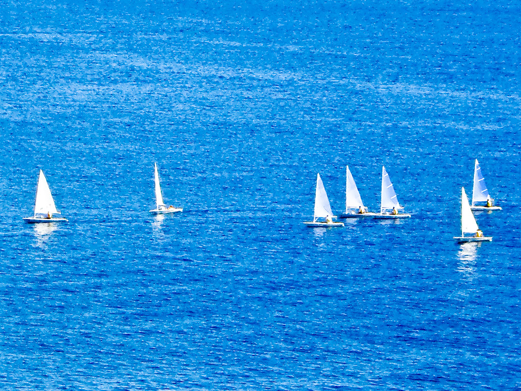 Sailboats in the bay of Palma