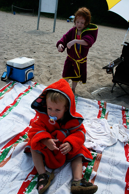 Beach Robes I made for the kids