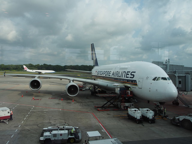 A380 at Singapore