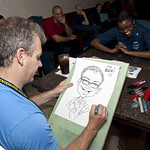 A cartoonist with MAD Magazine:: draws a picture of Personnel.