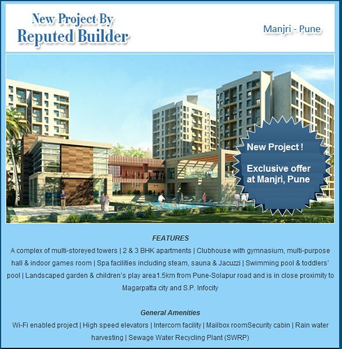 New Project by Reputed Builder - 2 and 3 BHK Apartments at Manjri Pune by jungle_concrete