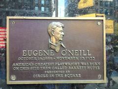 Photo of Eugene O'Neill brown plaque