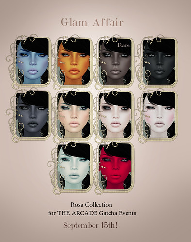 Glam Affair  - Roza Collection  for THE ARCADE Gatcha Events