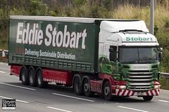 Scania R440 6x2 Tractor - PK11 BEU - Ocean Leigh - Green & Red - Eddie Stobart - M1 J10 Luton - Steven Gray - IMG_6109