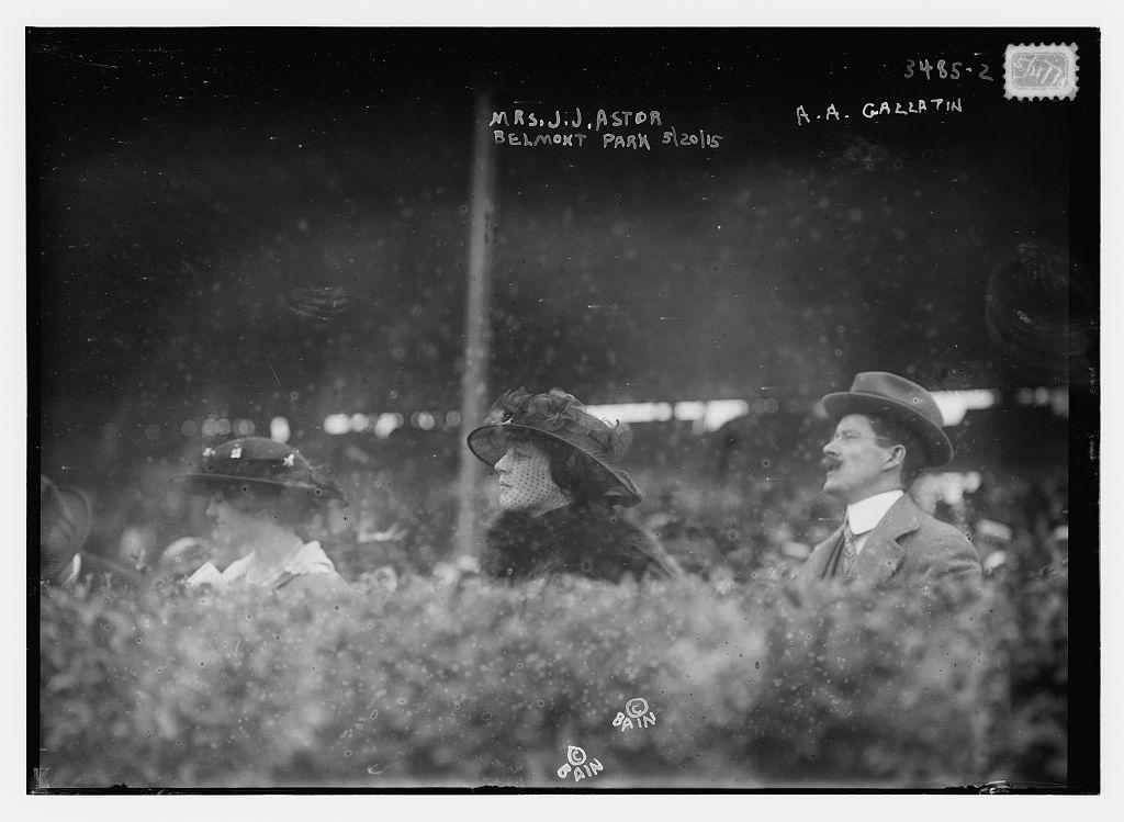 Mrs. J.J. Astor, A.A. [i.e., A.E.] Gallatin -- Belmont Park, 5/20/15  (LOC)