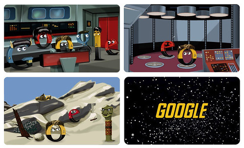 Google doodle 8 Sept 2012 - Star Trek: The Original Series ke-46