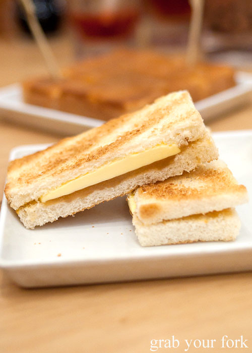 kaya toast at toast box, marina bay sands singapore