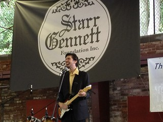 Brian Keith Whalen rocking out at the Starr Gennett Walk of Fame