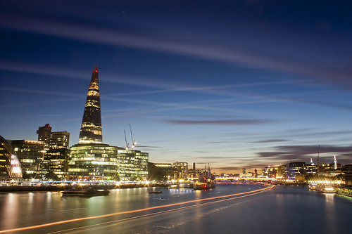 River lights and the Shard by manchego_photo