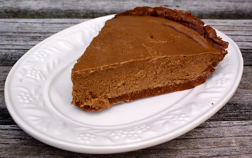 Chocolate Freezer Pie with Hazelnut Crust