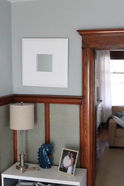 Why i 39 ll never paint our wood trim decor adventures for Wall colors with dark wood trim
