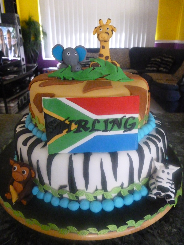African Themed Baby Shower Cake 020